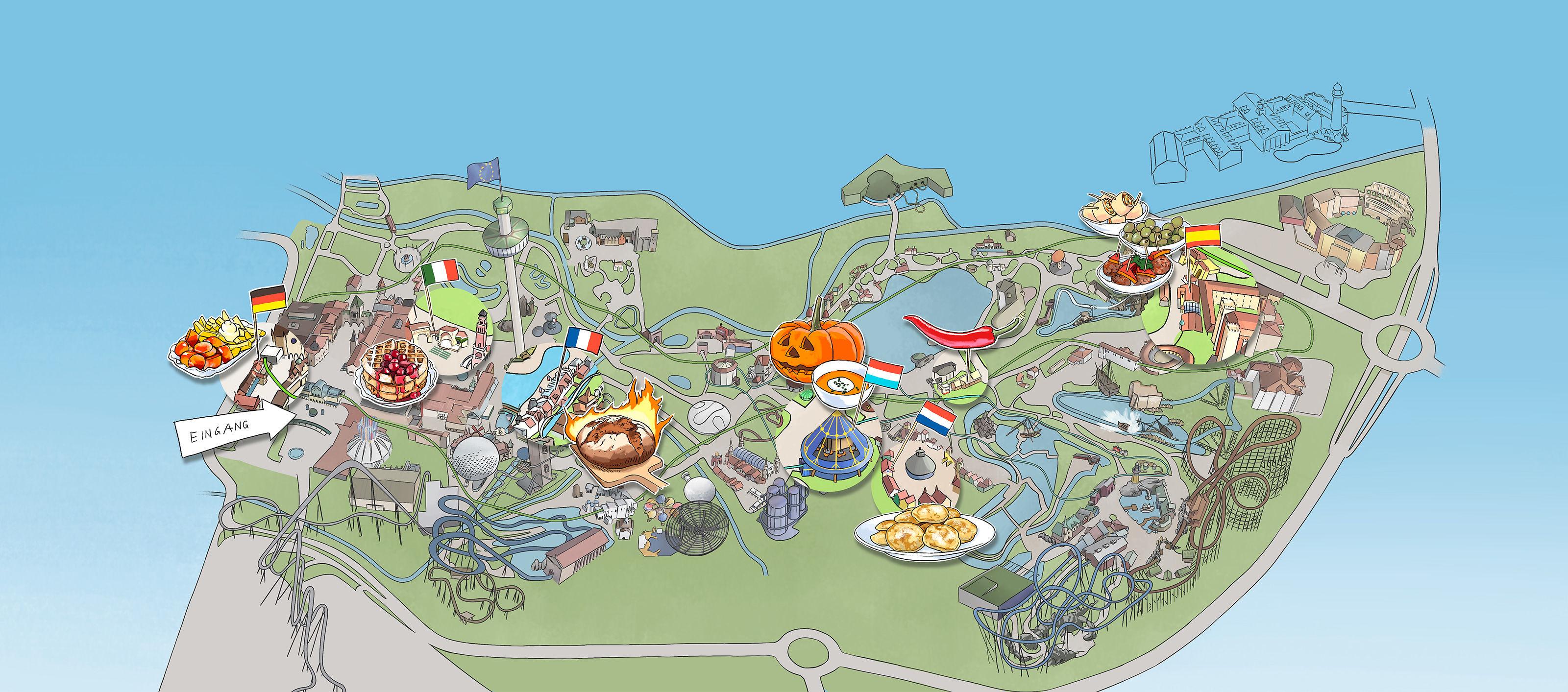 Oculus Illustration Portfolio Thema Editorial Europa Park